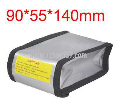 90*55*140mm Battery explosion-proof bag lithium battery storage bag