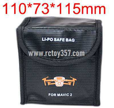 110*73*115mm Battery explosion-proof bag lithium battery storage bag