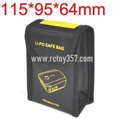 115*95*64mm Lithium battery explosion-proof bag for multi-function