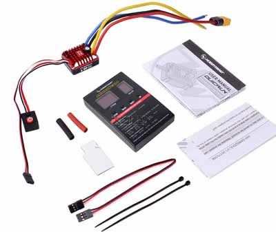 Hobbywing 1080 waterproof ESC 80A brushed ESC with setting card