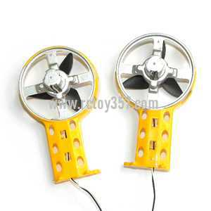 LH-1103 helicopter toy Parts Side motor + Side blade + Side wing (Yellow)