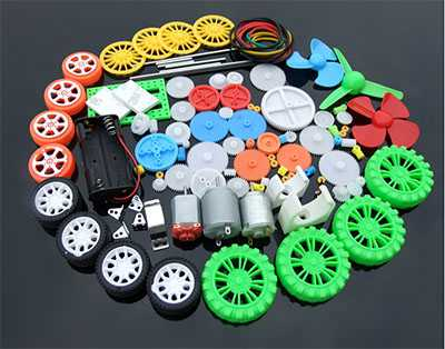 Luxury Edition Toy Motor Gear Pack 112 Plastic Gear Axle Motor Tire Combination Pack Model Accessories