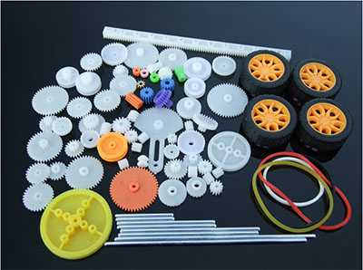 78 gear packages, toy car accessories, various motor gears, axles, belts and sleeves