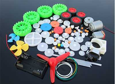 69 kinds of toy motor spindle gear package toy motor model production assembly gearbox model accessories