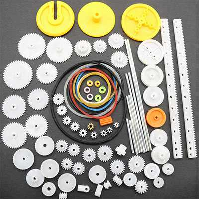 82 plastic gear packages DIY technology model production gear rack rack reduction gear box 0.5 module