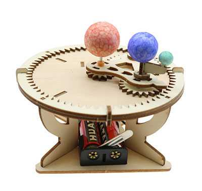 Celestial Demonstration Instrument Three Ball Instrument Electric Sun-Moon Model Primary School Students Handmade Science Experiment Equipment Toys